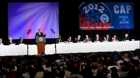 Obama taler til United Auto Workers konference