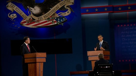 Obama og Romney debat i Denver, 2012