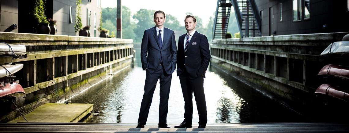 Morten Møller Holst (L) and Stefan Maard aims to find commercial means to fulfill the SDGs.