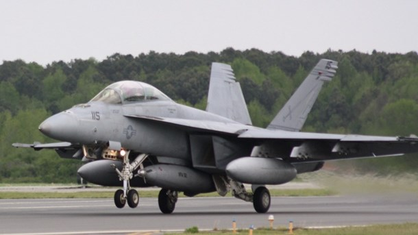 Boeing F-18 Super Hornet fly fra U.S. Navy på Naval Air Station Oceana.